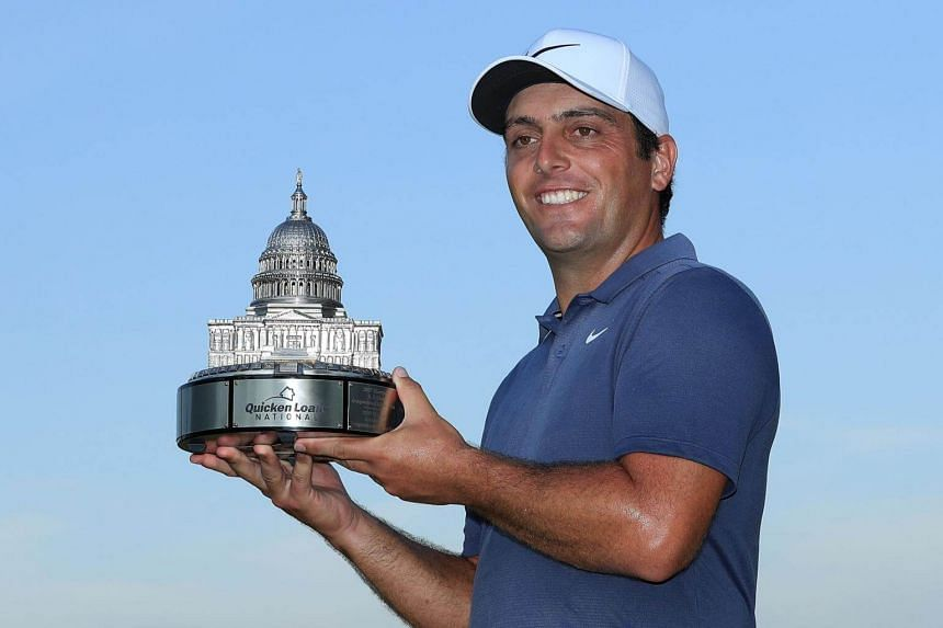 Francesco Molinari (pictured) matched the course record with an eight-under 62 in the final round at TPC Potomac to become the first Italian winner on the US-based circuit since Toney Penna in 1947.