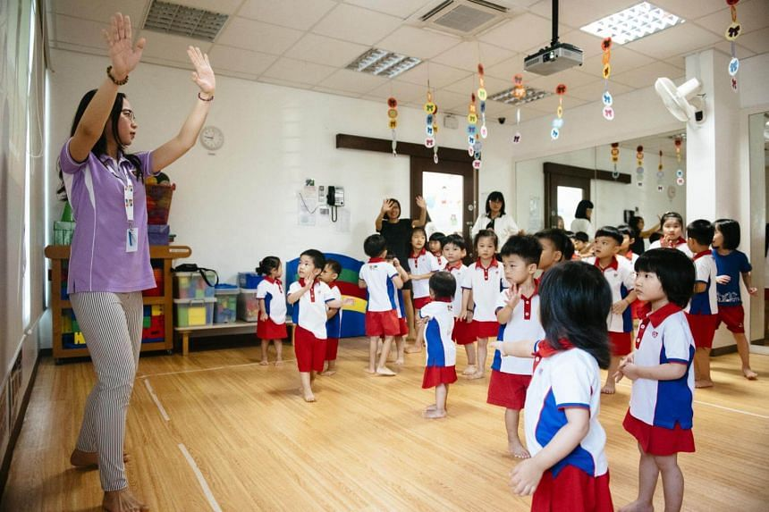 Pre-school pupils at Ang Mo Kio Ave 1's PCF Education Centre. Funded by Temasek Foundation Cares, The Neighbourhood Health Service Kids' screening identifies children's medical and developmental needs early.