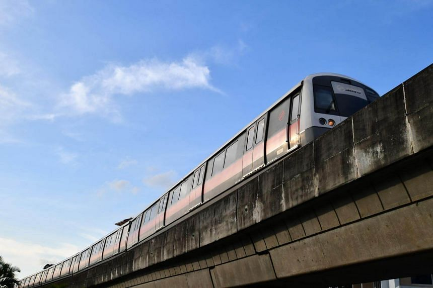 An SMRT train arriving at Bishan MRT Station. SMRT Trains incurred an after-tax loss of $86 million due to higher maintenance costs, lower ridership and fare revenue.