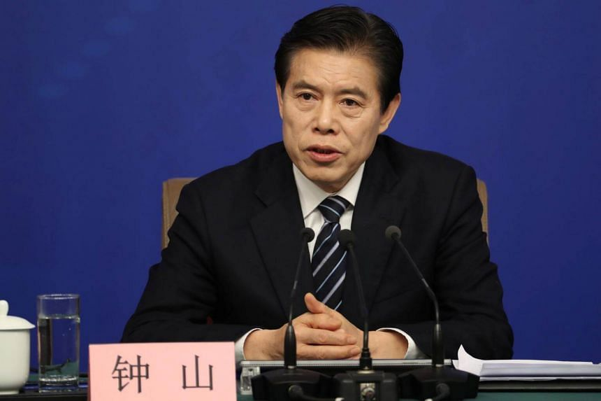 Chinese Commerce Minister Zhong Shan said economic globalisation is an irreversible trend and China will continue to defend the global multilateral trading system.