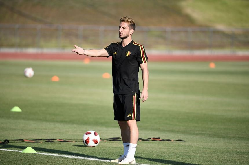 Belgium's forward Dries Mertens during a training session in Rostov-on-Don, on July 1, 2018, the eve of their Russia 2018 World Cup round of 16 football match against Japan that he warned Belgium not to be complacent in.