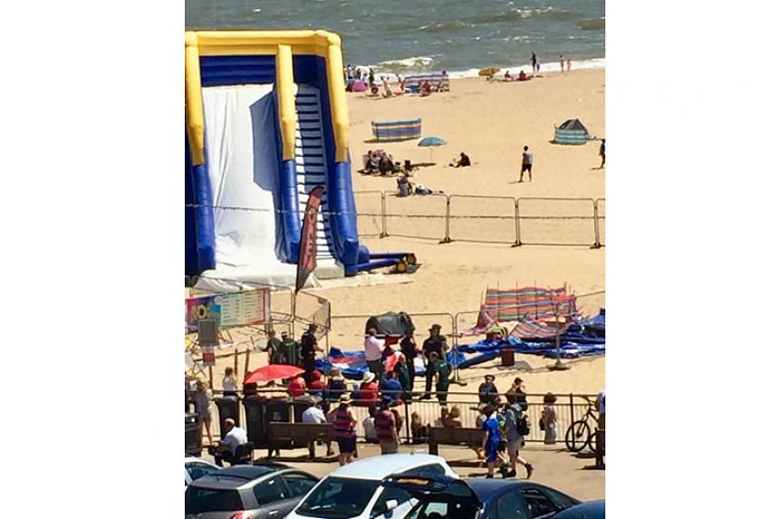 The incident happened at Gorleston beach, which lies about 30km east of Norwich city, on July 1, 2018.