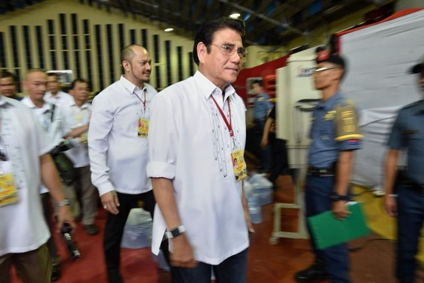 Tanauan city mayor Antonio Halili leaving a stadium on July 18, 2016. Police said he was shot dead by a sniper on July 2, 2018 at the city hall.
