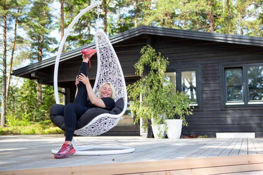 Kristina Roth, founder of the SuperShe network, on the new SuperShe Island near Raasepori, Finland, on June 27, 2018.
