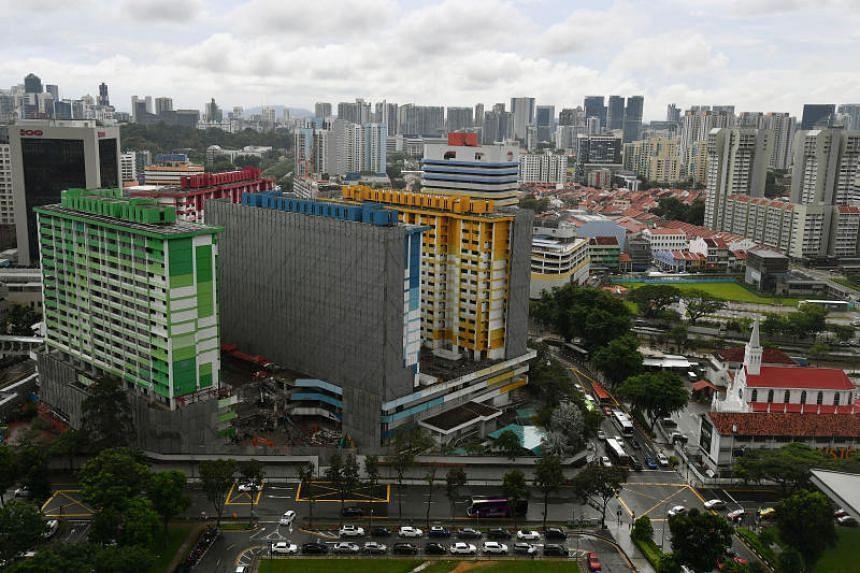 Rochor Centre is being levelled to make way for the North-South Corridor expressway.