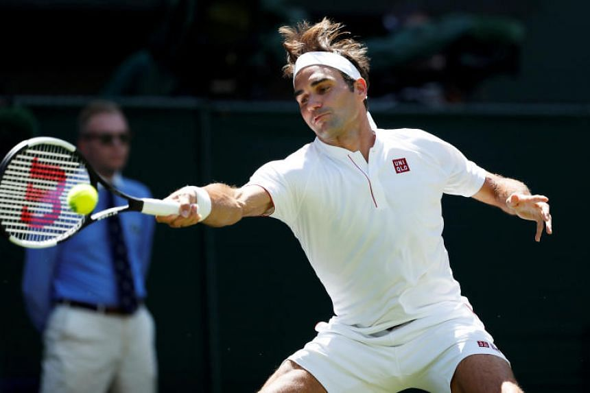 Switzerland's Roger Federer appeared for his match against Serbia's Dusan Lajovic wearing a Uniqlo branded outfit.