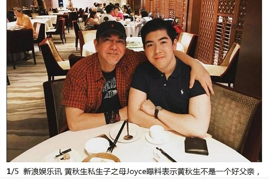 Anthony Wong and his son William in a photo posted on social media and which Chinese website Sina published (left, in a screengrab).