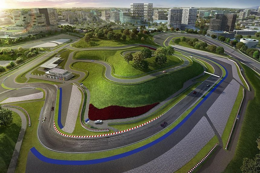A model showcasing the centrepiece of FASTrack Iskandar - the 15-turn 4.45km track. A 10-minute drive from the Tuas Second Link, the track has received a Grade 1 rating from the Federation Internationale Automobile, meaning it can host Formula One ra