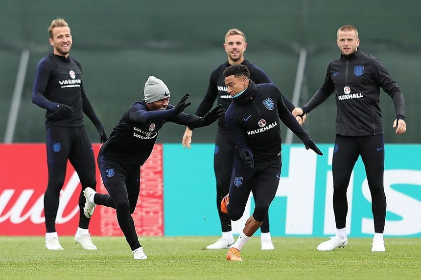 It will fall to Raheem Sterling (left) and Jesse Lingard to create chances for Harry Kane and trouble a Colombian backline that has kept successive clean sheets against Poland and Senegal.