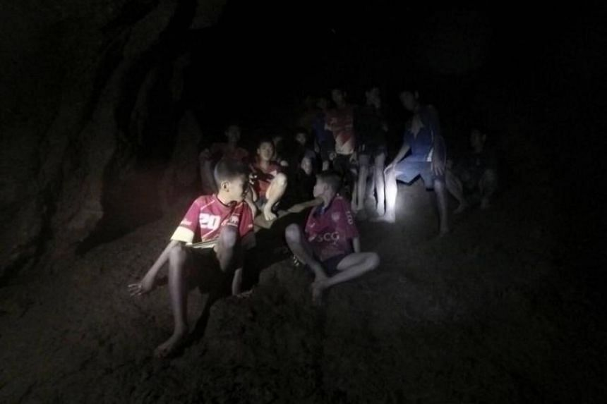 Divers struggled through narrow passages and murky waters to find the 12 boys and their coach late on July 2, 2018, on an elevated rock about 4 km away from the mouth of the cave.