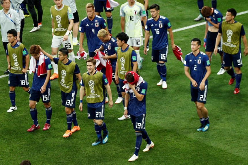 The Japanese national team have shown they are equally classy after their incredible gesture towards Belgium, despite being left distraught when the full-time whistle blew, with many players reduced to tears.