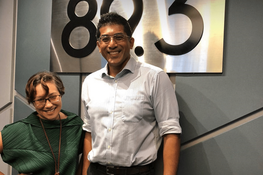 Mr Darryl David, MP for Ang Mo Kio GRC and CEO of SJI International (right), stops by for coffee and a chat with Money FM 89.3's Claressa Monteiro.