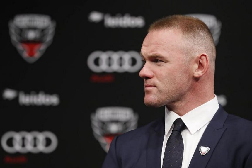 Wayne Rooney of DC United listens during his introduction press conference at The Newseum on July 2, 2018 in Washington, DC.