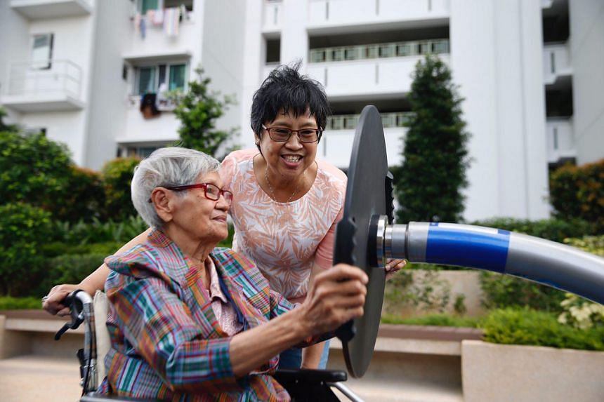 From 2020, severely disabled Singapore residents like Madam Quek Pong (left), who has dementia and needs help with daily activities, can draw up to $200 in cash from their Medisave accounts every month.