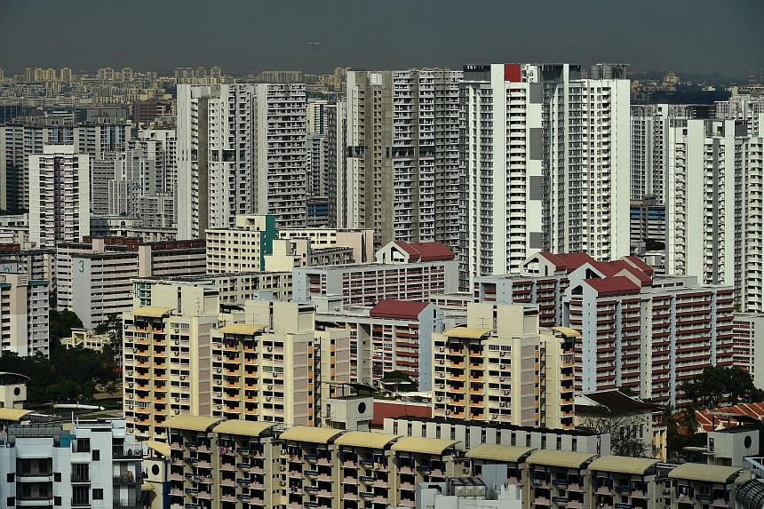 File photo showing HDB blocks near Novena. Resale flat prices increased slightly for the first time since the third quarter of 2016.