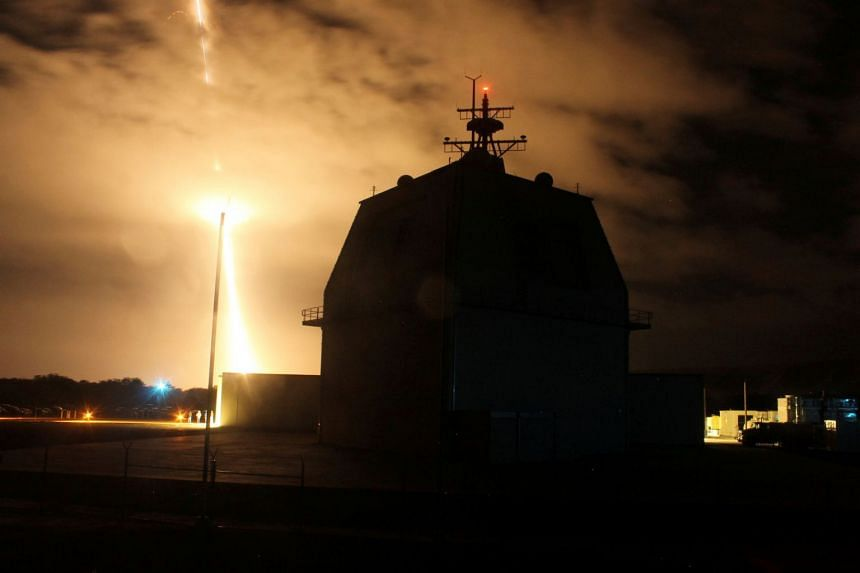 The Aegis Ballistic Missile Defense weapon system from the Aegis Ashore Missile Defense Test Complex being launched. Japan plans to buy two Aegis Ashore batteries to be deployed in 2023.