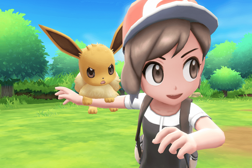 Pokemon: Let's Go Pikachu/Eevee! for the Nintendo Switch will be released on Nov 16, 2018. PHOTO: NINTENDO