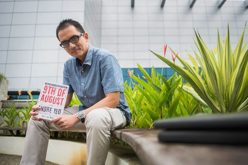 In the book 9th Of August, by Andre Yeo (above), six suicide bombers sneak into Singapore with a plan to strike on National Day 2020.