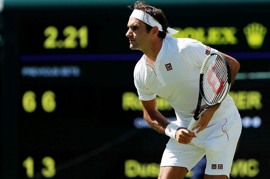 Wimbledon top seed Roger Federer opened the tournament with a 6-1, 6-3, 6-4 first-round victory over Serbia's Dusan Lajovic, the world No. 57, in just 79 minutes. The Swiss played in Uniqlo clothing for the first time, but wore Nike shoes as the Japa