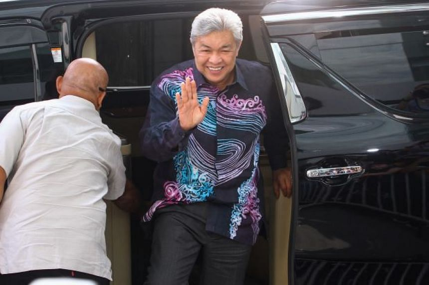 Former deputy prime minister Ahmad Zahid Hamidi was also questioned at the Malaysian Anti-Corruption Commission, on July 2, 2018.