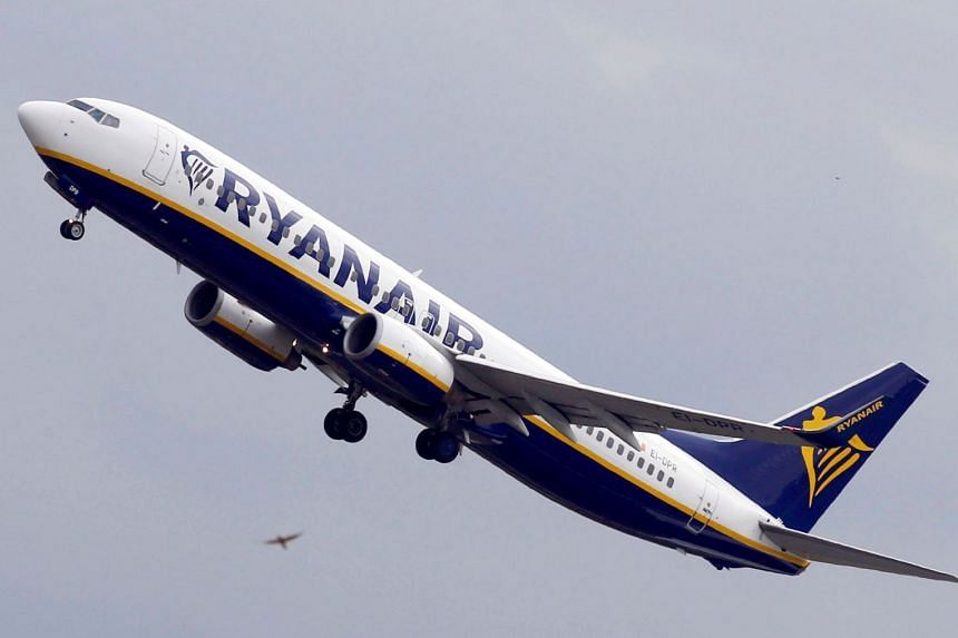 A Ryanair Boeing 737-800 passenger jet takes off in Colomiers near Toulouse, France.