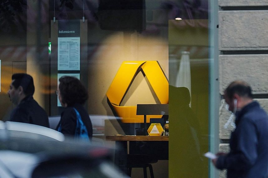 "A branch of Commerzbank in Frankfurt. Commerzbank has been restructuring as parts of its business have struggled amid weak markets and slow loan demand. Its ""4.0 strategy"" entails divesting non-core assets to raise capital for the company's core bank"
