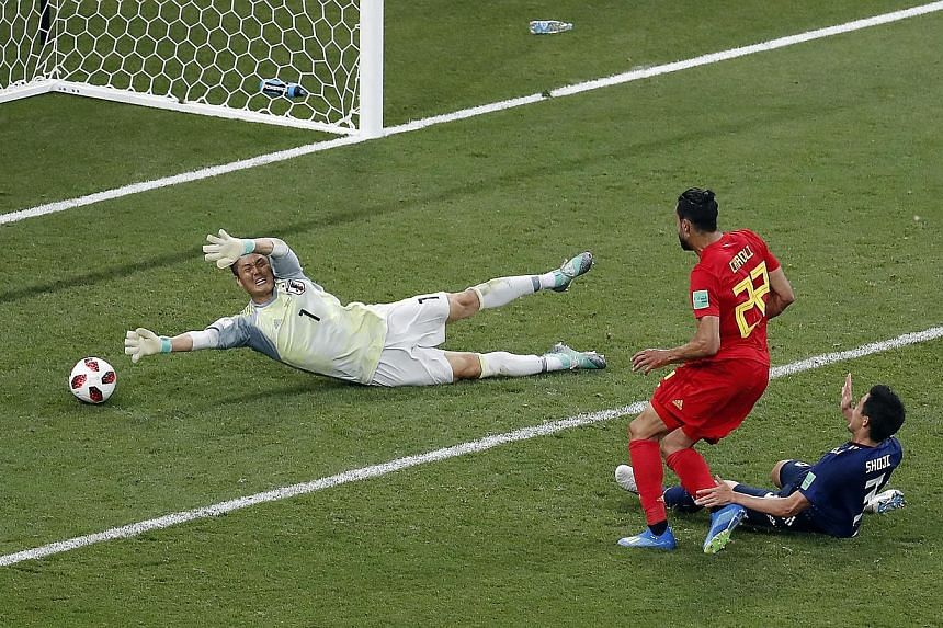 Nacer Chadli sidefooting home past Japanese goalkeeper Eiji Kawashima after a lightning counter-attack from a corner at the other end to give Belgium a last-gasp 3-2 win. The Red Devils will next face Brazil in the last eight.