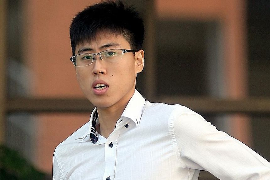 Ashton Chen Yongzhao, who was given a jail term of two years and four months yesterday, first met the girl in early 2014 at a Tampines block of flats. There, she performed oral sex on him at a staircase landing.