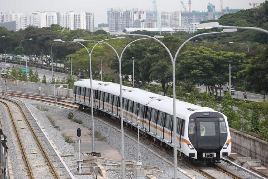 Train cars used for the line will feature five doors on each side - instead of four on other MRT trains - to facilitate quicker and smoother boarding and alighting.