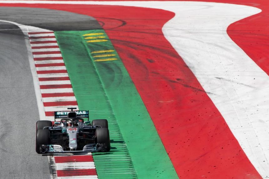 British Formula One driver Lewis Hamilton of Mercedes AMG GP in action during the 2018 Formula One Grand Prix of Austria at Red Bull Ring circuit in Spielberg, Austria, on July 1, 2018.