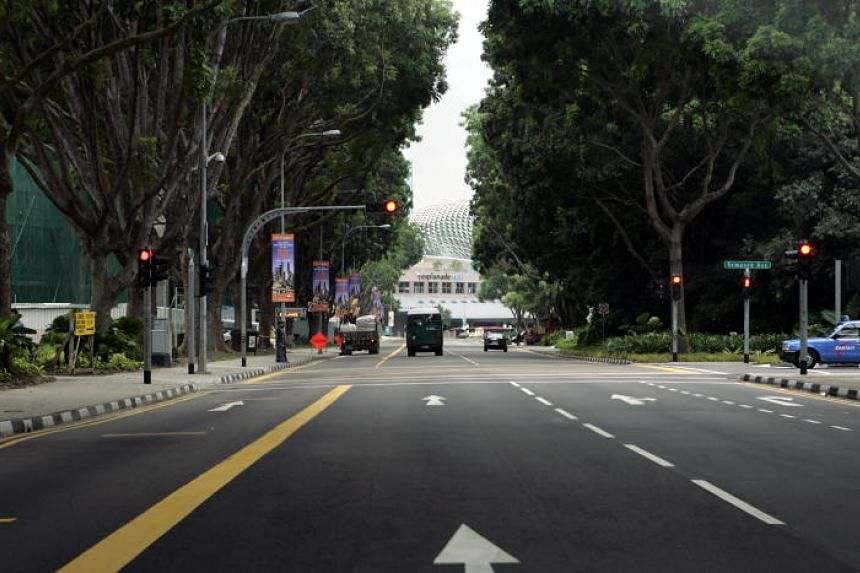 The left two lanes of Raffles Avenue will be closed on July 7, 14 and 21 to facilitate the National Day Parade rehearsals in the lead-up to National Day on Aug 9.