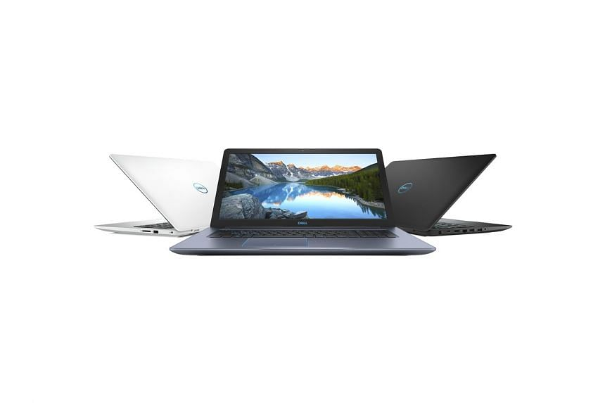 The Dell G3 15 gaming laptop starts from $1,199 and comes in three colours. PHOTO: DELL