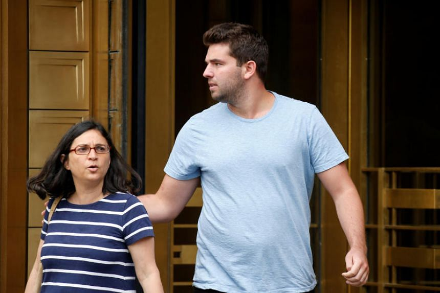 Billy McFarland (right) exits the US Federal Court in Manhattan, with his lawyer Sabrina Shroff, on July 1, 2017. He pleaded guilty earlier this year to two counts of wire fraud over the event, a charge that relates to financial deceit.