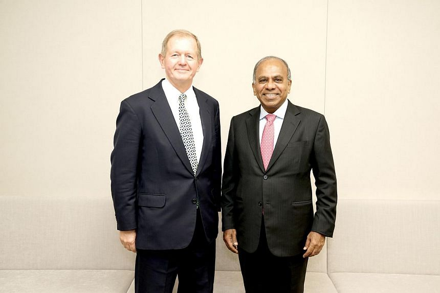 Nanyang Technological University (NTU) president Subra Suresh (right) with Mr Marcus Wallenberg, vice-chairman of the Knut and Alice Wallenberg Foundation, which is donating $7.6 million to NTU.
