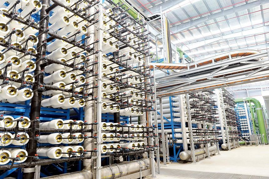 The new Tuas Desalination Plant. Up until the early 2000s, Singapore has been reliant on rain falling in its reservoirs or Malaysia's Johor River to meet its water needs.