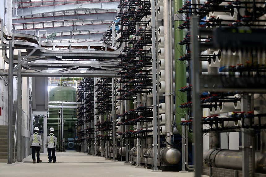 The tubes holding the reverse osmosis membranes at the Tuas Desalination Plant.