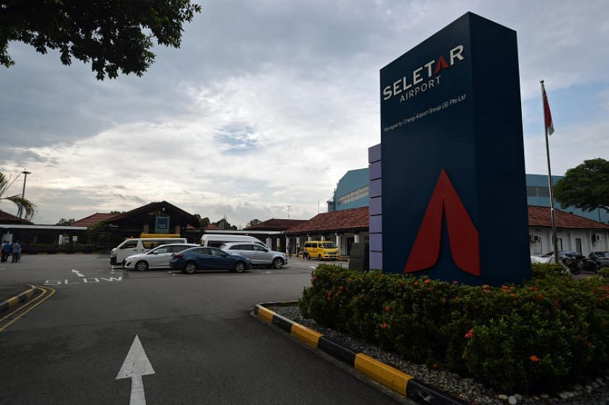 The exterior of the current Seletar Airport. The new facility - six times bigger than the current terminal - is designed to handle up to 700,000 passengers a year.