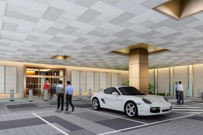 An artist's impression of the foyer for the Business Aviation Centre.
