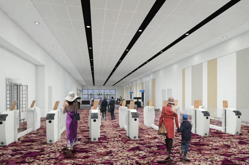An artist's impression of the departure area at the new Seletar Airport.