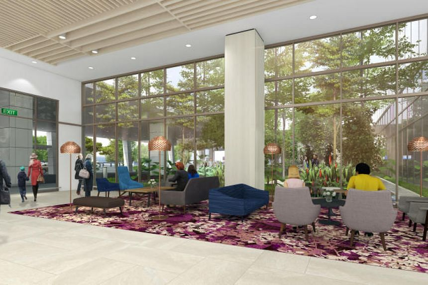 An artist's impression of the seating area at the arrival hall.