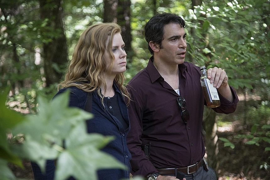 AMY ADAMS , who is starring in HBO's new drama Sharp Objects (with Chris Messina)