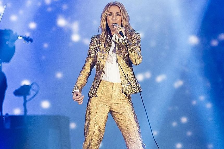 Costume changes, sweeping overtures by the band and elaborate visuals made Celine Dion's concert seem like a theatrical production.