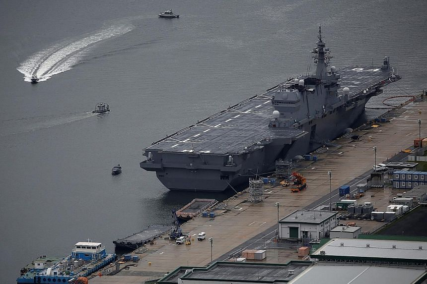 The 248m-long Kaga, which can operate several helicopters simultaneously, was commissioned in March last year.