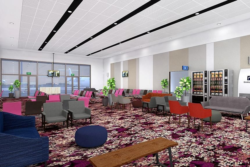 The gatehold room - big enough for about 200 passengers - at the departure area of Seletar Airport's new facility.