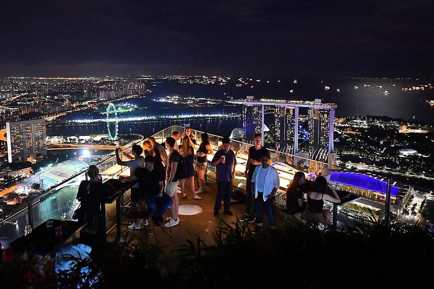 Rooftop bar 1-Altitude offers patrons a 360-degree view of the skyline. The 60 ST subscribers can attend a screening of the World Cup final at the world's highest al fresco bar, and each invitee can bring one other person.