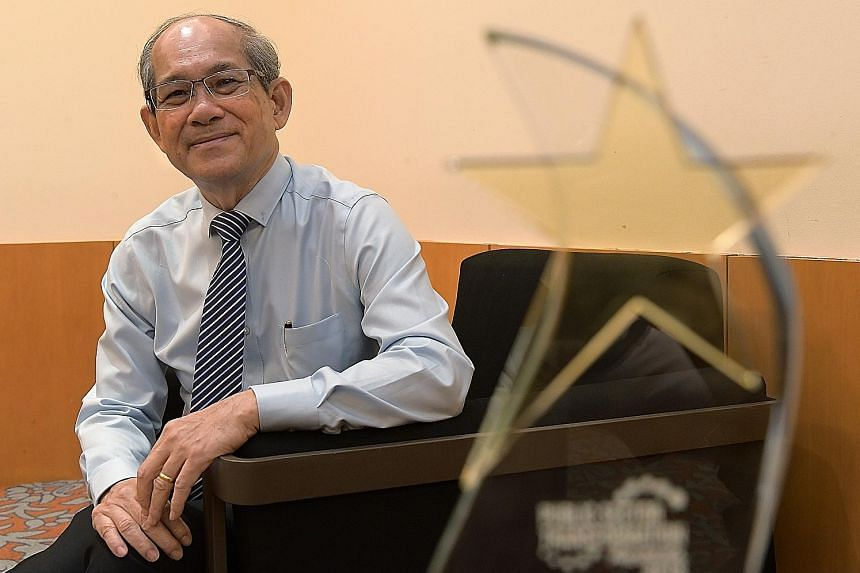 Mr Leong Siew Meng was given the Distinguished Star Service Individual Award yesterday, one of 400 public officers honoured at the Public Sector Transformation Awards.