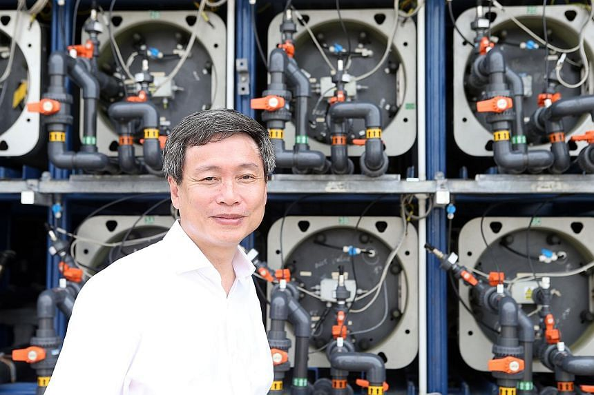 PUB's assistant chief executive Harry Seah hopes to reduce the rate of energy consumption of desalination at the Tuas demonstration plant to 1.8kwh per cubic m of sea water by next year, down from 2.4kwh per cubic m.