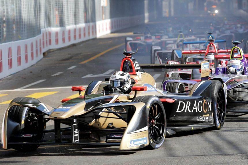 A Formula E race in progress in Zurich, Switzerland, on June 10, 2018.