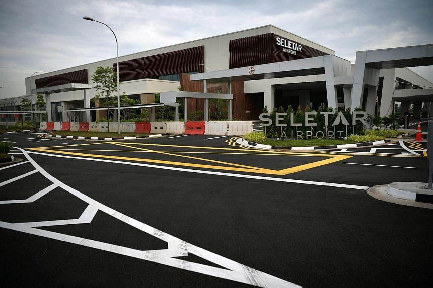 The new passenger terminal at Seletar Airport.