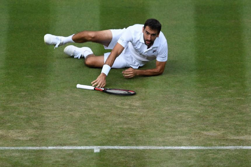 Marin Cilic was leading by two sets when rain forced the tie to be postponed, but the Croat collapsed once the match resumed.